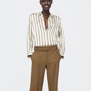 Brand New Zara Chain Print Shirt, L